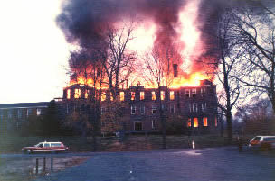 Kings Park Psychiatric Hospital, 1972 fire